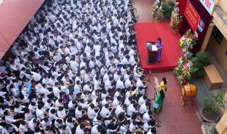 Trường THPT Vạn Xuân – Long Biên tổ chức Lễ khai giảng năm học mới