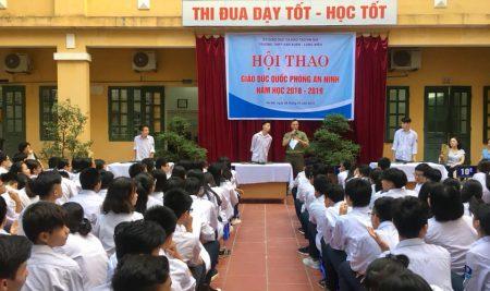 Một vài hình ảnh trong Hội thao Giáo dục Quốc phòng an ninh năm học 2018-2019 trường THTP Vạn Xuân Long Biên