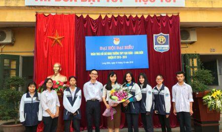 Đại hội đại biểu Đoàn TNCS Hồ Chí Minh Trường THPT Vạn Xuân – Long Biên nhiệm kỳ 2018-2019